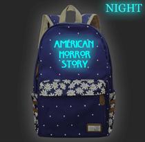 Синий рюкзак со светящейся надписью American Horror Story (Американская история ужасов) купить в Москве