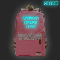 Розовый рюкзак со светящейся надписью American Horror Story (Американская история ужасов) заказать