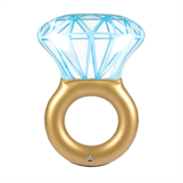 Надувной матрас в форме кольца с бриллиантом купить в Москве