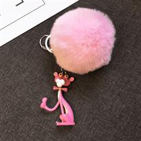Брелок Розовая Пантера с розовым помпоном купить в Москве