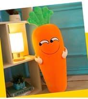 Плюшевая игрушка улыбающаяся морковь купить