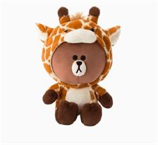 Плюшевая игрушка Браун в костюме жирафа (Brown Line Friends) 23 см купить