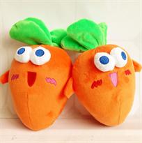 Плюшевая игрушка круглая морковь 25 см