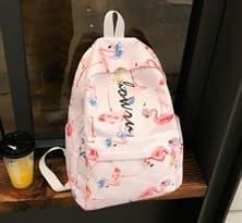 Школьный рюкзак с фламинго купить в Москве