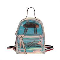 Прозрачный рюкзак розовый купить в Москве