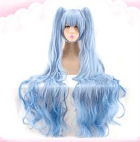 Синий парик Хацунэ Мику купить в Москве