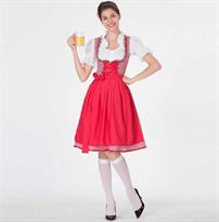 Красный баварский костюм купить в Москве