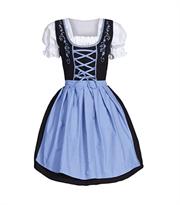 Черное платье с голубым фартуком для Октоберфеста купить