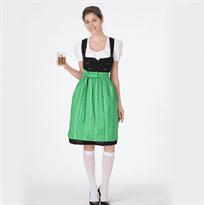 Купить Женский традиционный Баварский костюм зеленого цвета