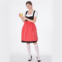 Женский традиционный Баварский костюм красного цвета купить