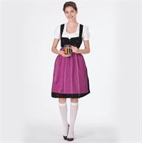 Женский традиционный Баварский костюм фиолетового цвета купить