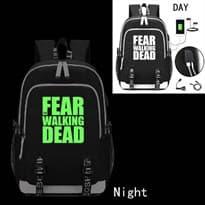 Школьный рюкзак The Fear Walking Dead светящийся в темноте (Цвет Черный) купить Москва