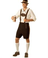 Мужской баварский костюм коричневого цвета купить в Москве