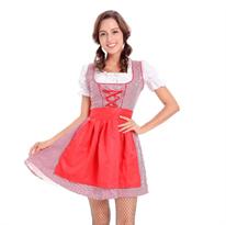 Красное Баварское платье для Октоберфеста купить в Москве