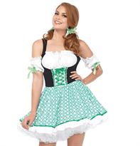 Зеленое Баварское платье для Октоберфеста купить в Москве