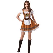 Коричневое Баварское платье для Октоберфеста купить в Москве