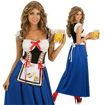 Купить Длинное Баварское платье для Октоберфеста