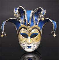 Синяя венецианская маска купить