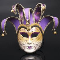 Фиолетовая венецианская маска купить