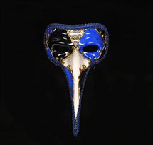 Маскарадная венецианская маска (синяя) купить в Москве