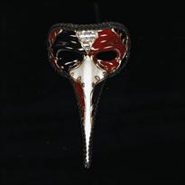 Маска клюв маскарадная венецианская бордовая