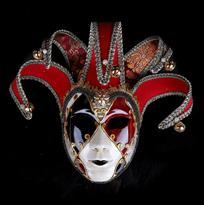 Купить Венецианская маска алого цвета в Москве