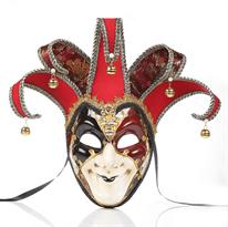 Алая венецианская маска шута купить