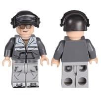 Фигурка Лего скин из игры PUBG Серый костюм и шлем купить Москва