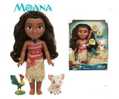 Кукла Моана с петушком Хей-хей и поросенком Пуа (Moana Doll) купить в Москве