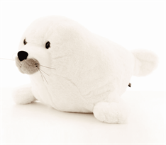 Плюшевая игрушка белый тюлень купить в Москве