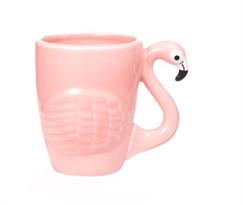 Керамическая розовая чашка Фламинго