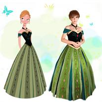 """Купить Зеленое платье Анны из """"Холодное сердце"""" (Frozen)"""