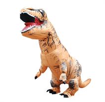 Коричневый надувной костюм динозавра Тирекса (T-Rex) в Москве