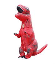 Купить красный надувной костюм динозавра Тирекса (T-Rex)