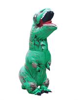 Зеленый надувной костюм динозавра Тирекса (T-Rex) купить