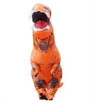 Купить Оранжевый надувной костюм динозавра Тирекса (T-Rex)