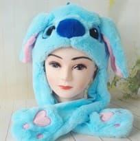 Купить Шапку с поднимающимися ушками Стич (Stitch) в Москве
