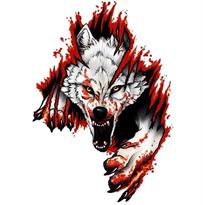 Наклейка на машину волк