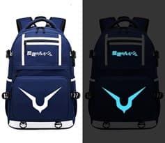Рюкзак светящийся в темноте из аниме Код Гиас (Code Geass) Цвет синий купить Москва