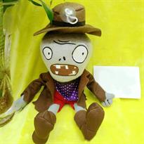 Купить Мягкую игрушку Зомби в шляпе и пальто 30 см (Plants vs Zombies)