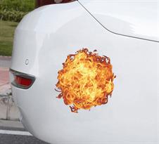 Купить 3D наклейку на машину Огненный Шар
