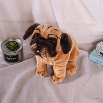 Плюшевая игрушка коричневый Мопс (40см) купить Москва