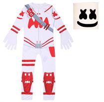 Купить Детский костюм Маршмеллоу Фортнайт (Marshmello Fortnite) бело-красный
