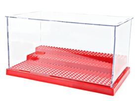 Купить Прозрачный ящик для хранения лего-фигурок красный