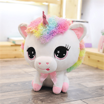 Купить Мягкую игрушку бело-розовый Единорог 35 см