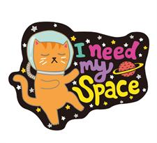 Купить наклейку котик на ноутбук
