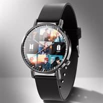 Купить Часы наручные Bangtan Boys BTS микс фото участников и логотипом группы