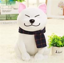 Купить Мягкую игрушку белая акита-ину 25 см