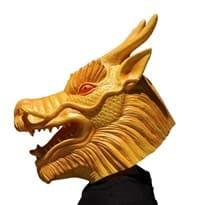Маска дракона для Хеллоуина. маскарада из латекса