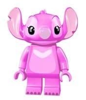 Фиггурка Лего Стич розового цвета из мультфильма Лилу и Стич